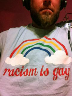 racism is gay t-shirt